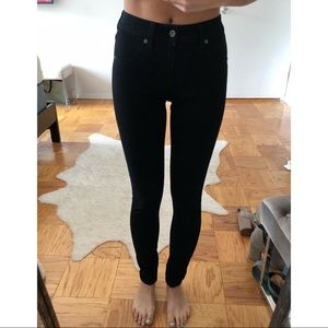 LF CarMar High Waisted Black Stretch Skinny Jeans